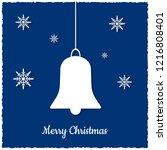 christmas greeting card. vector ...   Shutterstock .eps vector #1216808401