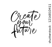 create your future card. hand... | Shutterstock .eps vector #1216810411