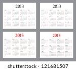 set of template calendars for... | Shutterstock . vector #121681507