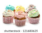 Colored Cupcakes