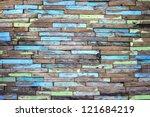 creative wood background | Shutterstock . vector #121684219