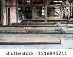 shaker tables inside the... | Shutterstock . vector #1216845211