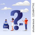 vector illustration. characters ... | Shutterstock .eps vector #1216847761