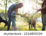 young male farmer with his... | Shutterstock . vector #1216853134