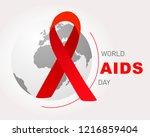 world aids day.  world aids day ... | Shutterstock .eps vector #1216859404