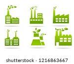 industrial icon set vector | Shutterstock .eps vector #1216863667