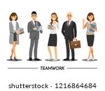 business people teamwork ... | Shutterstock .eps vector #1216864684