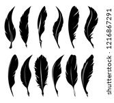 feathers pen black icon... | Shutterstock .eps vector #1216867291