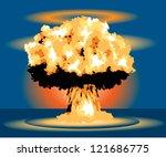 nuclear blast mushroom cloud | Shutterstock .eps vector #121686775