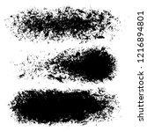 vector set of hand drawn brush...   Shutterstock .eps vector #1216894801