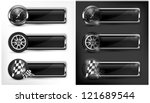 racing icons  speedometer ... | Shutterstock .eps vector #121689544