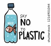 Fish Say No To Plastic Cartoon...