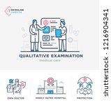medical illustrations icons ... | Shutterstock .eps vector #1216904341