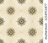 seamless vintage nautical... | Shutterstock . vector #1216911877
