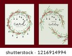 happy holidays card template... | Shutterstock .eps vector #1216914994