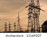 Many High Voltage Electric...