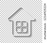 simple house icon. white... | Shutterstock .eps vector #1216925224