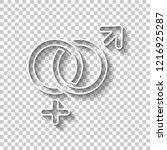 gender symbol. linear symbol.... | Shutterstock .eps vector #1216925287