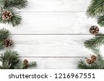 creative frame made of... | Shutterstock . vector #1216967551
