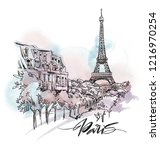 Paris Cityscape Illustration....