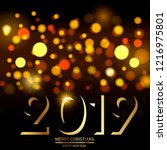 happy new year or christmas... | Shutterstock .eps vector #1216975801