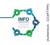 vector infographic template for ... | Shutterstock .eps vector #1216977991