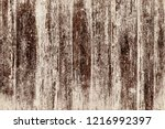 grunge wood planks with old... | Shutterstock . vector #1216992397