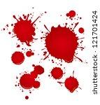 blood set | Shutterstock .eps vector #121701424