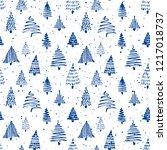 christmass tree seamless... | Shutterstock .eps vector #1217018737