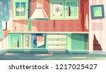 vector cartoon background with... | Shutterstock .eps vector #1217025427