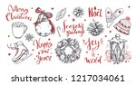 merry christmas and new year... | Shutterstock .eps vector #1217034061