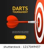realistic detailed 3d dartboard ... | Shutterstock .eps vector #1217049457