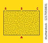 abstract rectangular large maze.... | Shutterstock .eps vector #1217053831
