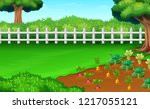 farm fields view in the daylght   Shutterstock . vector #1217055121