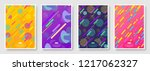 abstract covers set with... | Shutterstock .eps vector #1217062327