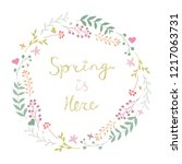 beautiful vector floral spring... | Shutterstock .eps vector #1217063731