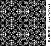 black and white seamless... | Shutterstock .eps vector #1217070331