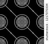 black and white seamless...   Shutterstock .eps vector #1217070334
