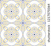 traditional portugal azulejos... | Shutterstock .eps vector #1217070364