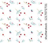 seamless christmas pattern with ...   Shutterstock .eps vector #1217072731