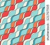 seamless wavy pattern.... | Shutterstock .eps vector #121707535