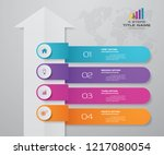 4 steps of arrow infografics... | Shutterstock .eps vector #1217080054
