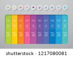 abstract 10 steps infographic... | Shutterstock .eps vector #1217080081