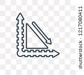 spike vector outline icon... | Shutterstock .eps vector #1217080411