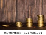 money coin gold currency | Shutterstock . vector #1217081791