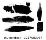 grunge paint stripe . vector... | Shutterstock .eps vector #1217083087