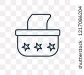 tissue vector outline icon... | Shutterstock .eps vector #1217086204