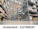 huge distribution warehouse... | Shutterstock . vector #1217088187
