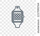 smartwatch concept vector... | Shutterstock .eps vector #1217090764