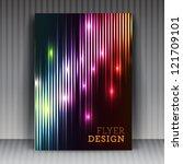 vector flyer or cover design...   Shutterstock .eps vector #121709101